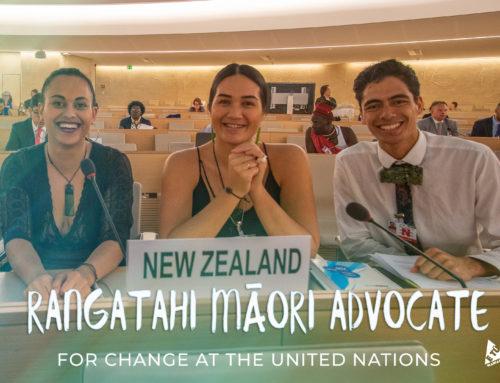 Rangatahi Māori advocate for change at the United Nations